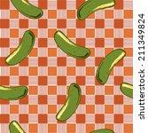 cucumbers seamless pattern on... | Shutterstock .eps vector #211349824