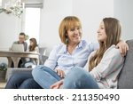 affectionate mother and... | Shutterstock . vector #211350490
