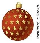 vector christmas ornaments | Shutterstock .eps vector #211356928