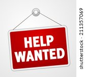 help wanted sign | Shutterstock .eps vector #211357069