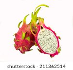 pitaya dragon fruit isolated on ... | Shutterstock . vector #211362514