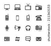 communication icon set  vector...   Shutterstock .eps vector #211363153