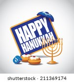 Happy Hanukkah Icon Eps 10...