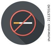 no smoking icon. flat design... | Shutterstock .eps vector #211370140