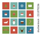 christmas icons | Shutterstock .eps vector #211370236