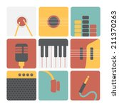 music icons | Shutterstock .eps vector #211370263