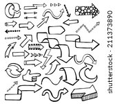 hand drawn vector arrows in... | Shutterstock .eps vector #211373890