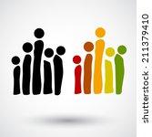 teamwork abstract human icon | Shutterstock .eps vector #211379410
