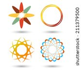 set of icons logos | Shutterstock .eps vector #211379500