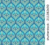 peacock pattern   Shutterstock .eps vector #211382650