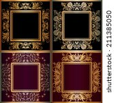 set of vector floral  frame... | Shutterstock .eps vector #211385050