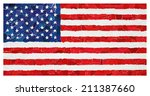 us national flag made from many ... | Shutterstock . vector #211387660