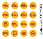 cars icon set | Shutterstock .eps vector #211390369