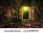 house inside tree | Shutterstock . vector #211398994
