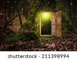 house inside tree | Shutterstock . vector #211398994