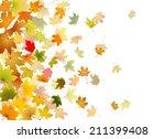 maple autumn falling leaves ... | Shutterstock .eps vector #211399408