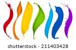 paint splash collection in... | Shutterstock . vector #211403428