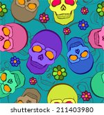 vector seamless pattern with... | Shutterstock .eps vector #211403980