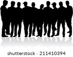 silhouette of a man | Shutterstock .eps vector #211410394