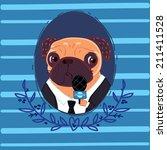 pug reporter | Shutterstock . vector #211411528