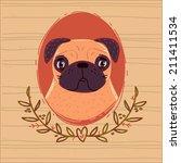 portrait of a pug | Shutterstock . vector #211411534