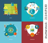 set of flat design concepts of... | Shutterstock .eps vector #211419130