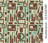 grunge retro vector seamless... | Shutterstock .eps vector #211420789
