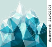 abstract geometry snow blue... | Shutterstock .eps vector #211423303