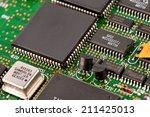 electronic circuit board as an... | Shutterstock . vector #211425013