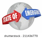 state of emergency words on... | Shutterstock . vector #211436770