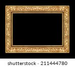 vintage gold frame isolated on... | Shutterstock . vector #211444780