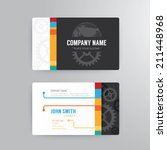 business card template modern...