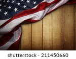 closeup of american flag on... | Shutterstock . vector #211450660