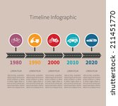 timeline vector infographic... | Shutterstock .eps vector #211451770