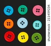 colorful sewing buttons on a... | Shutterstock . vector #211459234