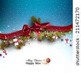 christmas background with fir... | Shutterstock .eps vector #211472170