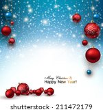 christmas background with red...   Shutterstock .eps vector #211472179