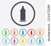 condom safe sex sign icon. safe ... | Shutterstock .eps vector #211473289