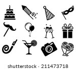 party icons set. | Shutterstock .eps vector #211473718