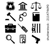 law and justice icons set. | Shutterstock .eps vector #211474690