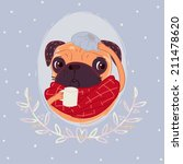 pug sick | Shutterstock . vector #211478620