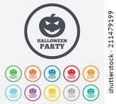 halloween pumpkin sign icon.... | Shutterstock .eps vector #211479199