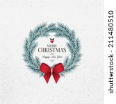 christmas and new year. vector... | Shutterstock .eps vector #211480510