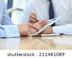 business adviser analyzing... | Shutterstock . vector #211481089