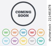 coming soon sign icon....   Shutterstock .eps vector #211481878