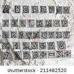 hand drawn letters font written ... | Shutterstock . vector #211482520