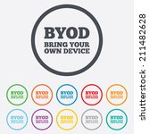 byod sign icon. bring your own... | Shutterstock .eps vector #211482628