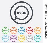 byod sign icon. bring your own... | Shutterstock .eps vector #211483360