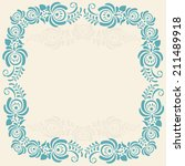 frame of floral elements.vector ... | Shutterstock .eps vector #211489918
