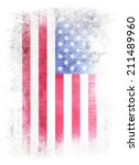 grunge flag of usa | Shutterstock . vector #211489960